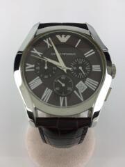 クォーツ腕時計/アナログ/レザー/ブラウン/BRW/BRW/AR-0671