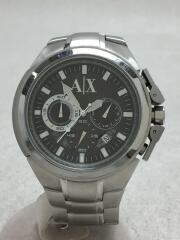 アルマーニ/クォーツ腕時計/AX1039/クロノグラフ/ステンレス/シルバー/中古