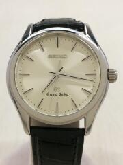 Grand Seiko/クォーツ腕時計/9F61-0A40/PT950/アナログ/レザー/箱有/セカスト