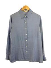 長袖シャツ/US12/BLU/シルク素材/イタリア製/襟元汚れ有/ラグジュアリー/セカスト
