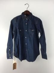 WESTERN SHIRTS/ウエスタンシャツ/S/デニム/インディゴ/00-8014-95/長袖