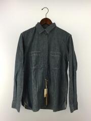 タグ付/CHAMBRAY SHIRTS BLUE/シャンブレーワークシャツ/size:4(XL)/インディゴ