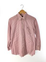 15AW/BCシャツ/長袖シャツ/M/コットン/PNK/ストライプ