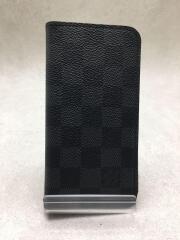 IPHONE X・フォリオ_ダミエグラフィット/PVC/BLK