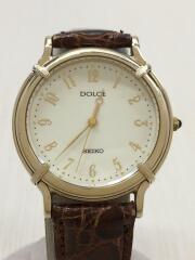 クォーツ腕時計/アナログ/レザー/IVO/8N41-6190