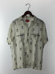 16SS/Betty Boop Shirt/ベティちゃん/アロハシャツ/M/レーヨン/WHT
