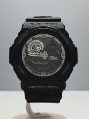 クォーツ腕時計/アナログ/ラバー/黒/ブラック/GA-300