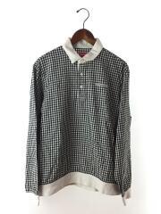 ポロシャツ/17SS/M/コットン/黒/ブラック/ギンガムチェック