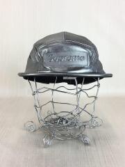 キャップ/コットン/シルバー/銀色/PEBBLED LEATHER CAMP CAP