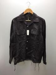 長袖シャツ/S/パープル/GL194/20SS/Cut-off bottom classic shirt