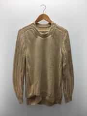 セーター(厚手)/L/コットン/CRM/無地/15SS/⑩/汚れあり