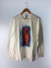 8268/ファンタジーアニマルロンT豹/長袖Tシャツ/L/コットン/WHT