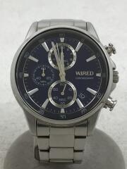 vd57-knd0/クォーツ腕時計/アナログ/ステンレス/BLU