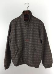 20SS/Tan Glan Plaid Track Half Zip Pullover/M/ポリエステル/GRY
