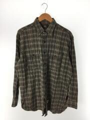 USED/90S/WORK SHIRTS/ワークシャツ/長袖シャツ/M/コットン/GRN/チェック/1654OBCB