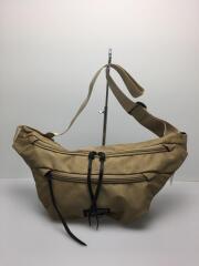 ショルダーバッグ/ナイロン/KHK/無地/Basics Waist Bag/汚れ有