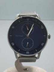 クォーツ腕時計/アナログ/ステンレス/BLU/SLV/6323-T024041/チャーチストリート