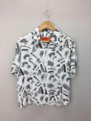 オープンカラーシャツ/半袖シャツ/FREE/レーヨン/WHT/総柄/U813168EH
