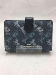 2つ折り財布/PVC/BLU/総柄/87936