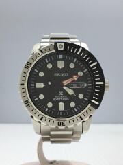 自動巻腕時計/アナログ/ステンレス/BLK/SLV/4R36-03PO/SRP587/プロスペックス