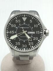 自動巻腕時計/アナログ/ステンレス/BLK/SLV/H64715135/Khaki Aviation P