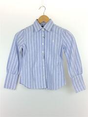 長袖シャツ/130cm/コットン/BLU/ストライプ