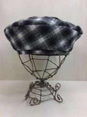 Luminare/ベレー帽/--/ウール/GRY/チェック