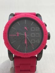 クォーツ腕時計/アナログ/ラバー/ピンク/DZ-5362