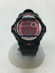 クォーツ腕時計・Baby-G/デジタル/ラバー/ブラック/カシオ