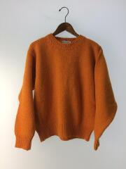 セーター(厚手)/L/ウール/オレンジ