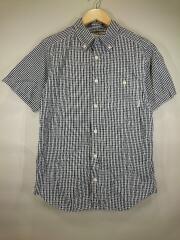 半袖シャツ/M/コットン/NVY/チェック/PM7909
