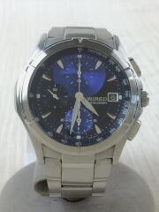 クォーツ腕時計/アナログ/ステンレス/ネイビー/シルバー/7T92-0GB0
