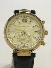 腕時計/アナログ/レザー/GLD/マイケルコース
