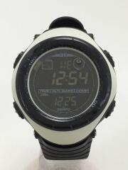 スント/腕時計/デジタル/ラバー/ホワイト/ブラック/VECTOR