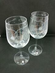 グラス/2点セット/クリア/ワイルドストロベリー/ペアワイングラスセット