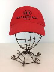 18SS/BB BALWNCIAGA MODE CAP/バレンシアガ/キャップ/--/コットン/レッド/無地// /