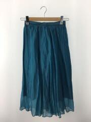 スカート/32/シルク/BLU