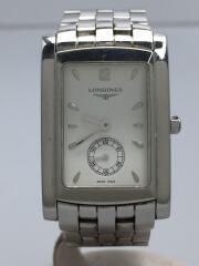 クォーツ腕時計/アナログ/ステンレス/ホワイト/シルバー/L5.655.4