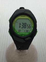 カシオ/クォーツ腕時計/デジタル/ラバー/GRN/BLK/STR-300