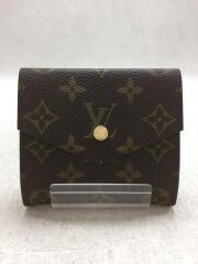 2つ折り財布/ビニール/ブラウン/総柄