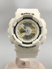 GA-110LDクォーツ腕時計/2016ラバーズコレクション/デジアナ/ラバー/WHT/WHT