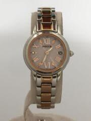 H0F8-R005235/ソーラー腕時計/アナログ/ステンレス/PNK