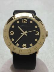 クォーツ腕時計/アナログ/レザー/ブラック/ブラック/111410