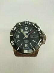 セイコースポーツ/7S36-03P0自動巻腕時計/アナログ/ステンレス/BLK/SLV