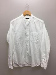 フィンクスコットン グランデッドカラーシャツ/長袖シャツ/36/コットン/ホワイト/無地