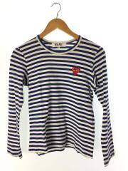 長袖Tシャツ/M/コットン/BLU/ボーダー/AZ-T163/AD2014