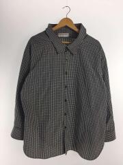 17AW/スウィングカラーシャツ/長袖シャツ/38/コットン/NVY/チェック