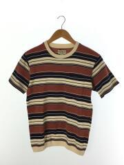 Tシャツ/36/コットン/マルチカラー/ボーダー