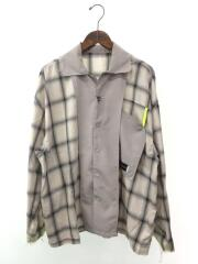 20SS/INSIDE OUT CHECK SHIRT/E20SS-BE40B/シャツ/M/ウール/GRY/オンフ