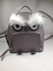 Owl Cityscape grey Backpack/18年/WKRU5674/リュック/レザー/GRY/無地
